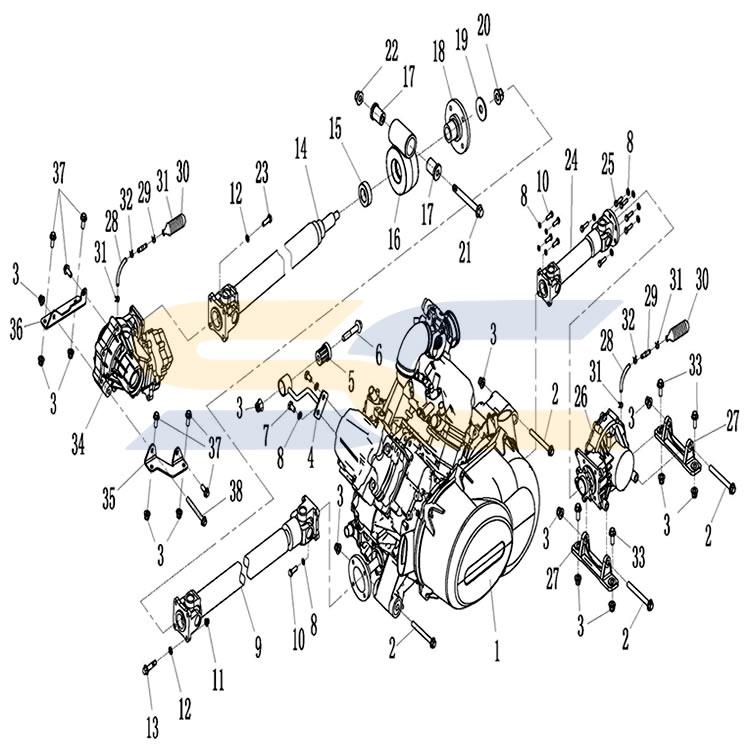 MSU 850X Transmission